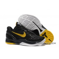 Nike Zoom Kobe 6 Black Yellow Basketball Shoes For Sale
