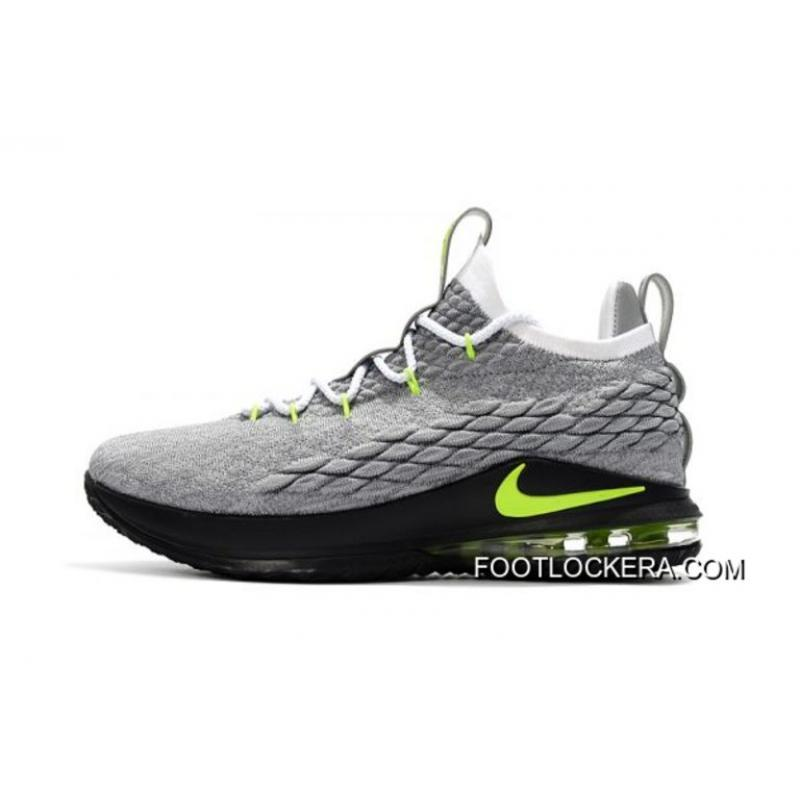 """the latest d93dc 2aca3 Outlet Nike LeBron 15 Low """"Neon"""" Men's Basketball Shoes"""