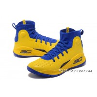 Under Armour Curry 4 Basketball Shoes Yellow Blue Lastest