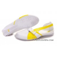 2018 Outlet Womens Puma BWM Sandals White/Yellow