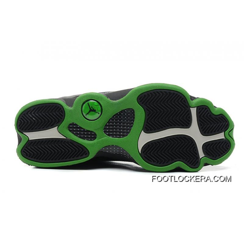 outlet store 601b3 00b33 ... nike air jordan 13 retro altitudes black leather altitude green cheap  to buy