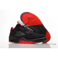 "Nike Air Jordan 5 Low ""Alternate '90"" Black/Gym Red-Metallic Hematite Cheap To Buy"