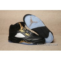 Nike Air Jordan 5 Olympic Black/Metallic Gold Top Deals