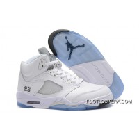 Nike Air Jordan 5 White/Metallic Silver Online