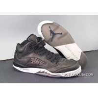 "Nike Air Jordan 5 Premium Heiress ""Camo"" Black/Light Bone Sneakers On For Sale"
