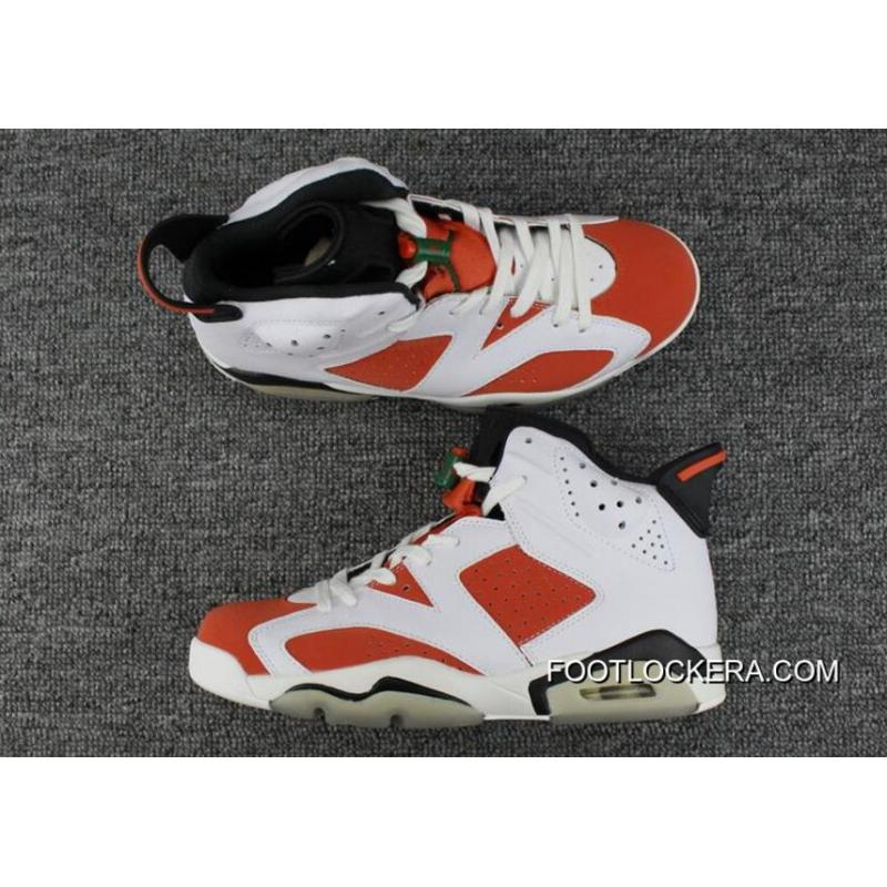 "5b7d70684cb148 Air Jordan 6 ""Gatorade"" Summit White Black-Team Orange Hot Sell New ..."