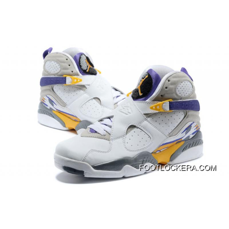 "dc2e55028b66 Nike Air Jordan 8 ""Kobe Bryant Lakers Home"" PE New Release ..."