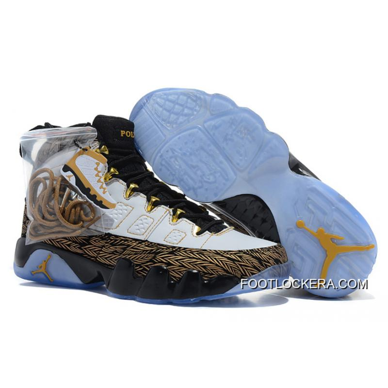 "9090a73368e283 Nike Air Jordan 9 ""Doernbecher"" White Metallic Gold-Black Top Deals ..."