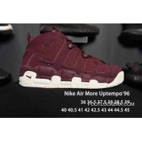 Nike Air More Uptempo Burgundy Men/Women Free Shipping