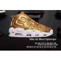 Nike Air More Uptempo White Golden Men/Women Online