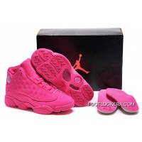 Nike Air Jordan 13 GS All-Pink Shoes Authentic