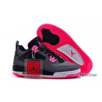 Nike Air Jordan 4 GS Black Grey Hyper Pink Best