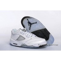 Nike Air Jordan 5 Low GS White/Black-Wolf Grey Authentic