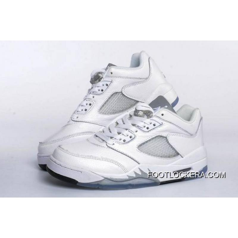 new style 09273 ecfe2 Nike Air Jordan 5 Low GS White/Black-Wolf Grey Authentic
