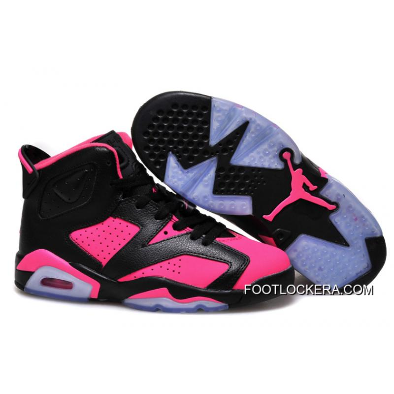 on sale 5834a b6fd4 Nike Air Jordan 6 GS Black Pink Shoes Top Deals