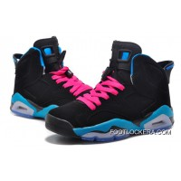 "Nike Air Jordan 6 GS ""South Beach"" Black/Dynamic Blue-White-Vivid Pink Copuon Code"