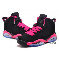 Nike Air Jordan 6 GS Black/Fusion Pink Super Deals