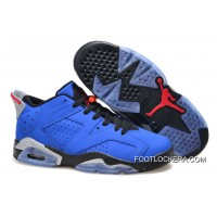 "Nike Air Jordan 6 Low GS ""Eminem"" Blue Black/Grey Cheap To Buy"
