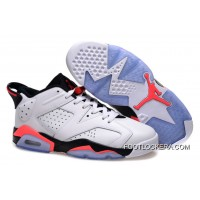 "Nike Air Jordan 6 Low GS ""White Infrared"" Cheap To Buy"