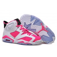 Nike Air Jordan 6 GS White Pink Shoes New Release