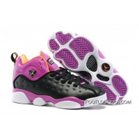 Nike Jordan Jumpman Team 2 GS Black/Hyper Orange-Purple Dusk-White Lastest