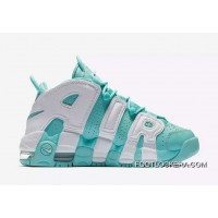 """Nike Air More Uptempo GS """"Island Green""""Sneakers On Sale Discount"""