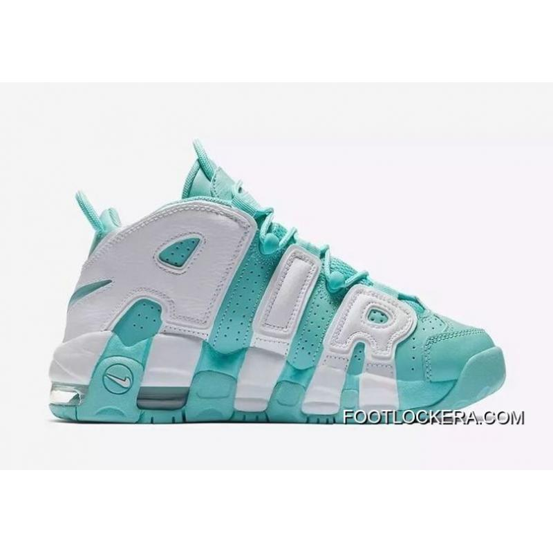 """b823274d57 Nike Air More Uptempo GS """"Island Green""""Sneakers On Sale Discount ..."""