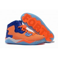 "Nike Jordan Air Spike 40 Forty PE ""Total Orange"" Total Orange/Game Royal-White Authentic"