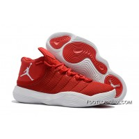 Jordan Super.Fly Flyknit University Red/White Sneakers On Sale Top Deals