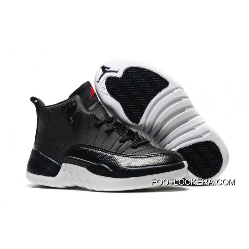 "timeless design d6bf9 58c11 Kids Air Jordan 12 ""Black Nylon"" Black/White-Gym Red Lastest"