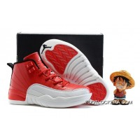 "Kids Air Jordan 12 ""Gym Red"" New Style"