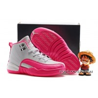 "Kids Air Jordan 12 ""Vivid Pink"" New Style"