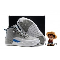 "Kids Air Jordan 12 ""Wolf Grey/University Blue"" Cheap To Buy"