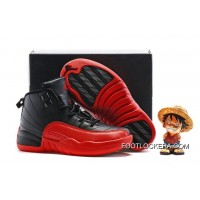 Kids Air Jordan 12 Black/Varsity Red Authentic