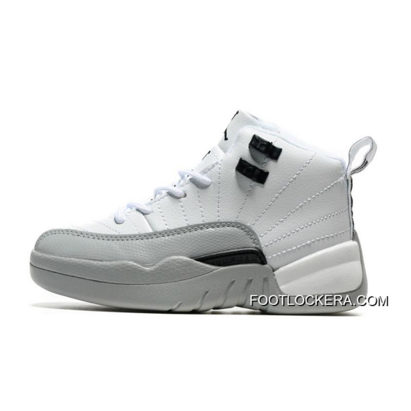 "official photos 88914 dbd76 Kids Air Jordan 12 ""Barons"" WhiteBlack-Wolf Grey Super Deals ."