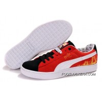 Puma Basket Shoes BlackRedWhite 2018 New Year Deals