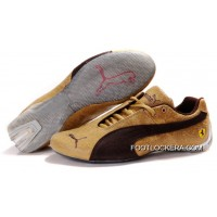 2018 Online Mens Puma Ferrari In Golden/Brown/Gray