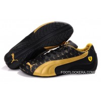 2018 Free Shipping Mens Puma Ferrari In Black/Golden