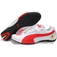 Mens Puma Future Cat Ferrari In White/Red 2018 New Release