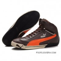 2018 Super Deals Puma Michael Schumacher High Tops Chocolate Orange