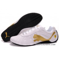 Mens Puma Speed Cat Big In White/Golden/Black 2018 Best