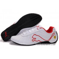 Mens Puma Speed Cat Big In White/Red 2018 New Style