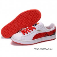 2018 Free Shipping Puma Suede Fat Lace In White-Varsity Red