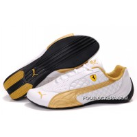 Mens Puma Wheelspin In White/Golden/Black 2018 Free Shipping