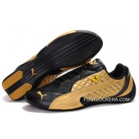 Mens Puma Wheelspin In Black/Golden 2018 Free Shipping
