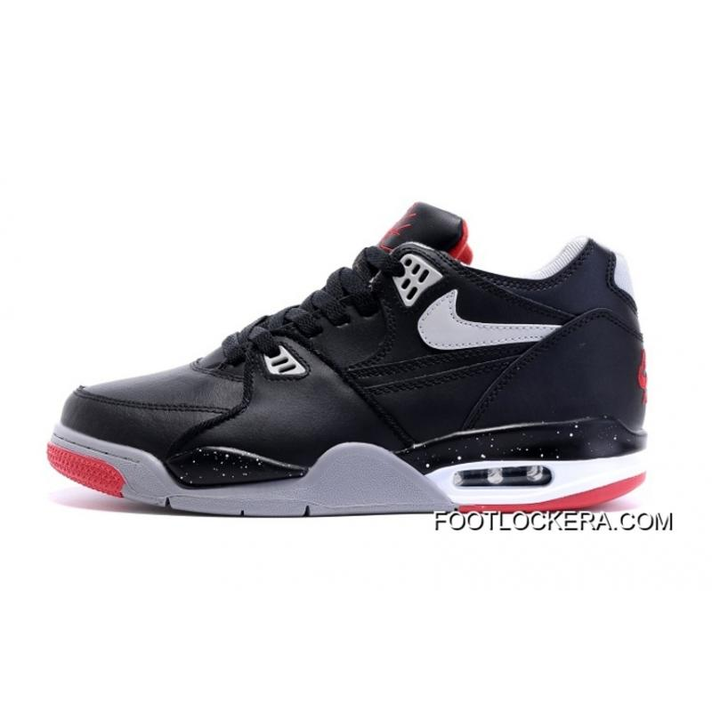 "... Nike Air Flight '89 ""Bred"" Black/Cement Grey-Fire Red- ..."