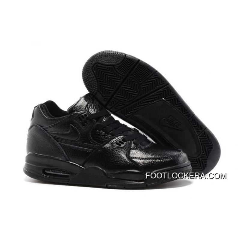 reputable site 06578 1625f Nike Air Flight  89 All Black Leather Basketball Shoes Super Deals ...