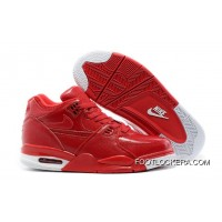 Nike Air Flight '89 Red Leather Basketball Shoes Authentic