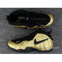Nike Air Foamposite Pro Metallic Gold/Black-White Hot Sell Authentic