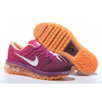 Nike Air Max 2017 Flyknit Women Orange Purple Authentic